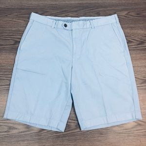 Brooks Brothers Sky Blue Flat Front Shorts 38